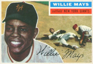 willie mays 1956 topps baseball card